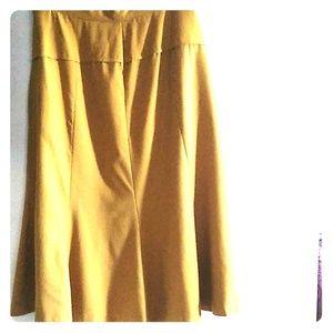 Vintage A-Line Flare Wool Skirt, Women's,